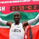 Eliud Kipchoge is the First Athlete to Finish Marathon Under 2 Hours