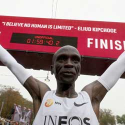 Eliud Kipchoge is the First Athlete to Finish Marathon Under 2 Hours