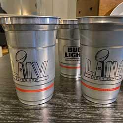 Hard Rock Stadium Replaces Plastic Cups with Aluminum for Super Bowl