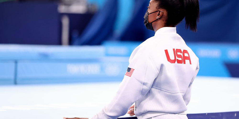Bookie Sad After Simone Biles Withdrew from Uneven Bars and Vault Finals